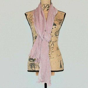 INC International Concepts Lilac Ruffle Edge Wrap